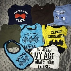 Baby boy MIXED onesies! (0-3,3,6-9 months)